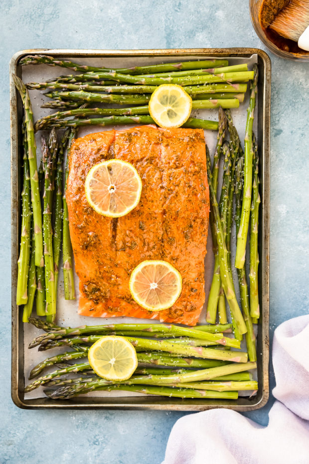 Baked Lemon Dijon Salmon Amp Asparagus No Spoon Necessary