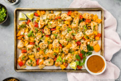 Sheet Pan Thai Peanut Chicken
