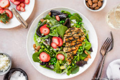 Spring Pea & Strawberry Salad