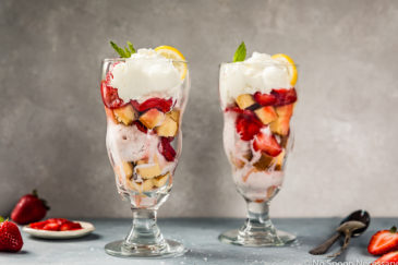 Amaretto Strawberry Shortcake Sundae