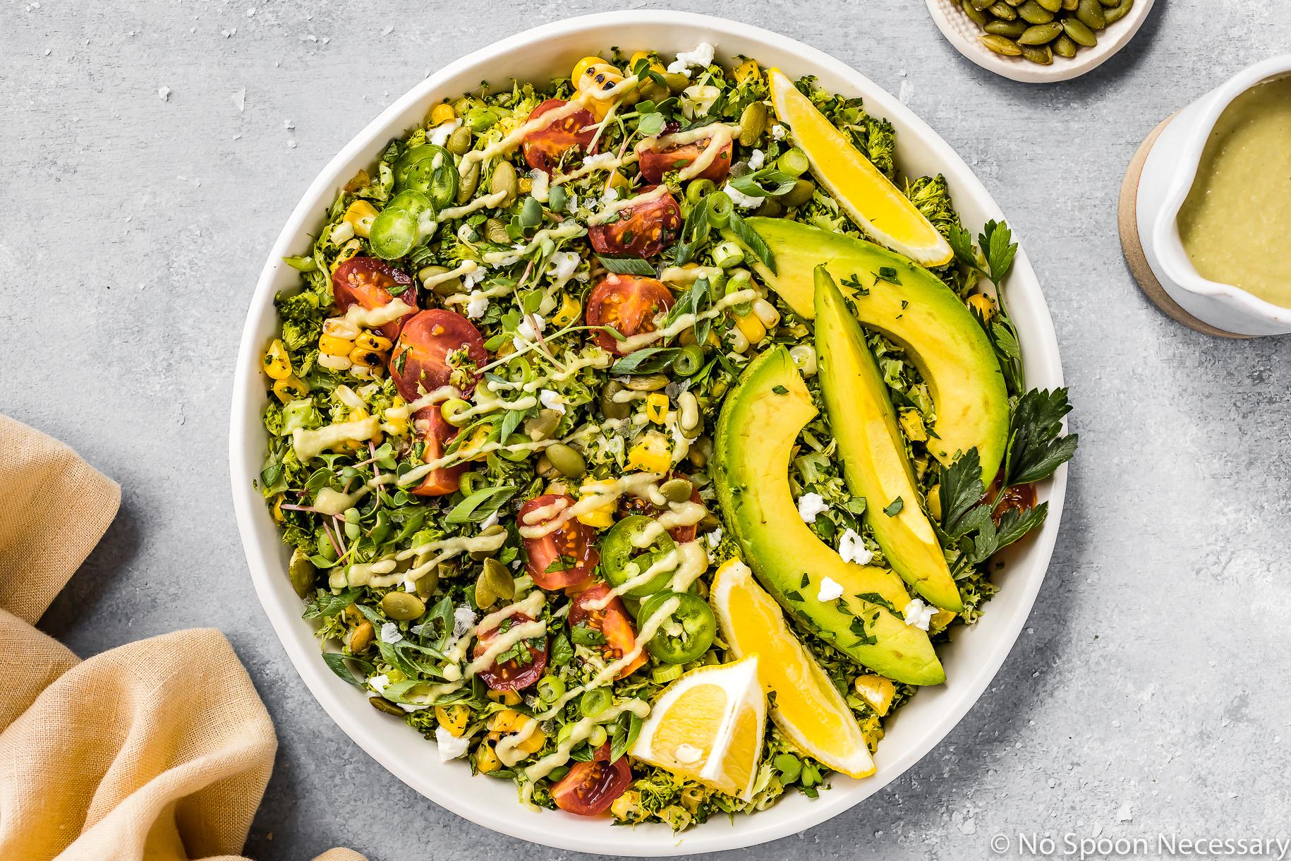 Summer Corn & Broccoli Tabbouleh