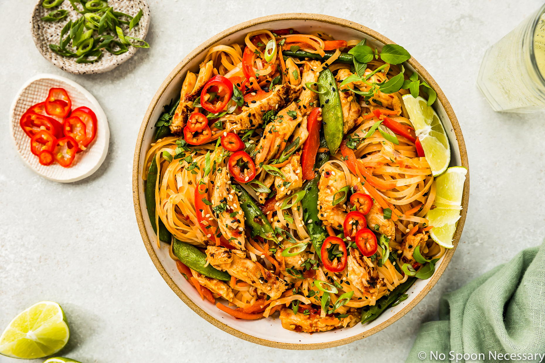 Thai Spicy Chili Chicken and Noodles