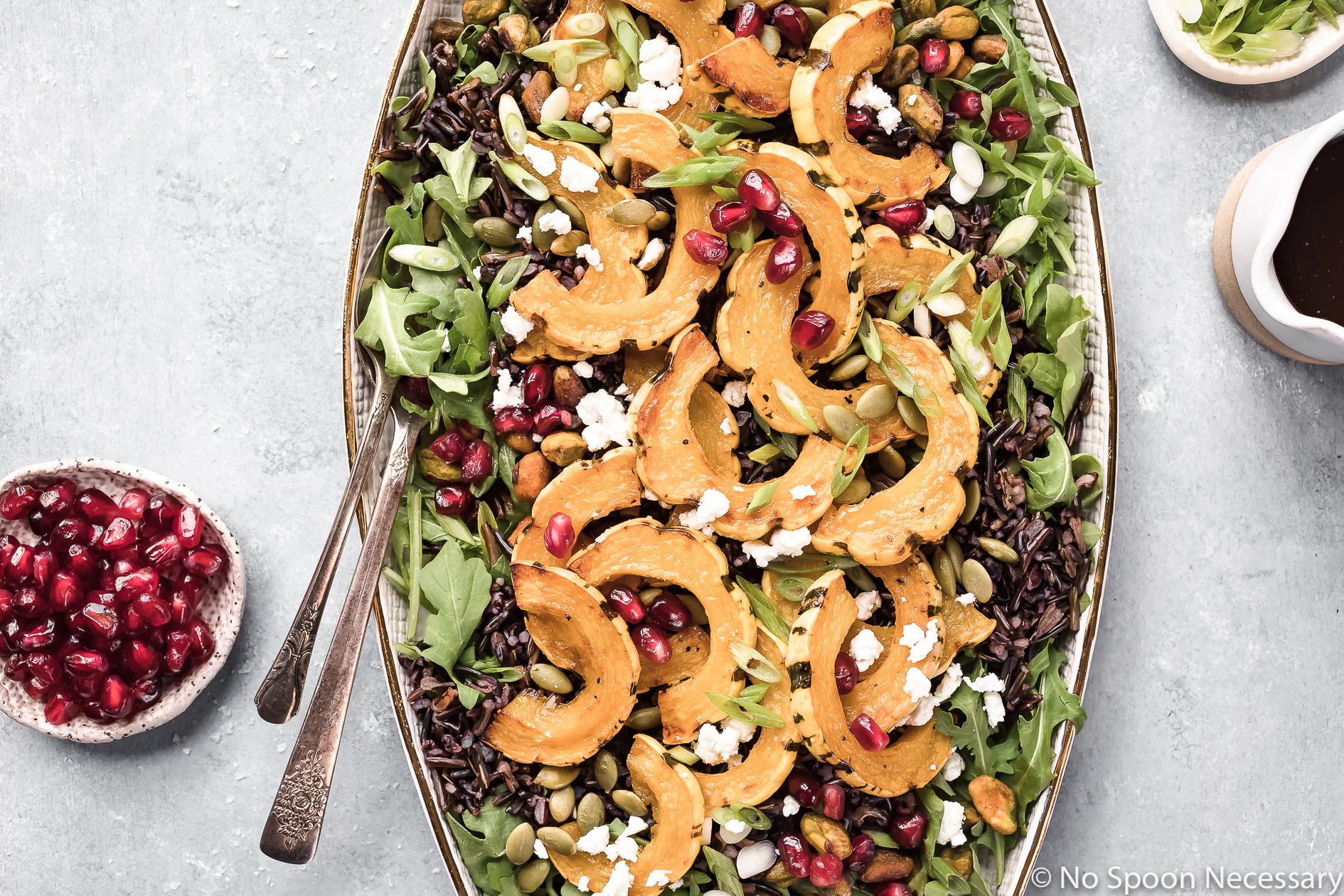 Roasted Delicata Squash Wild Rice Salad