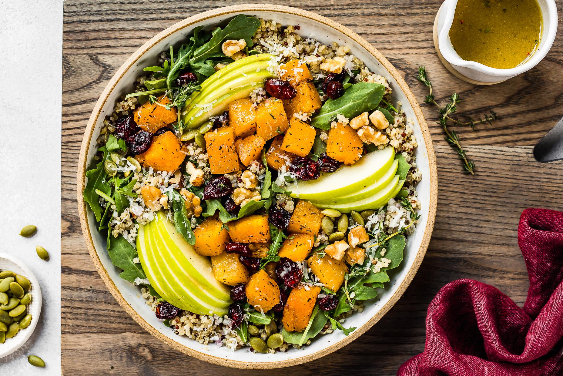 Fall Butternut Squash Quinoa Salad