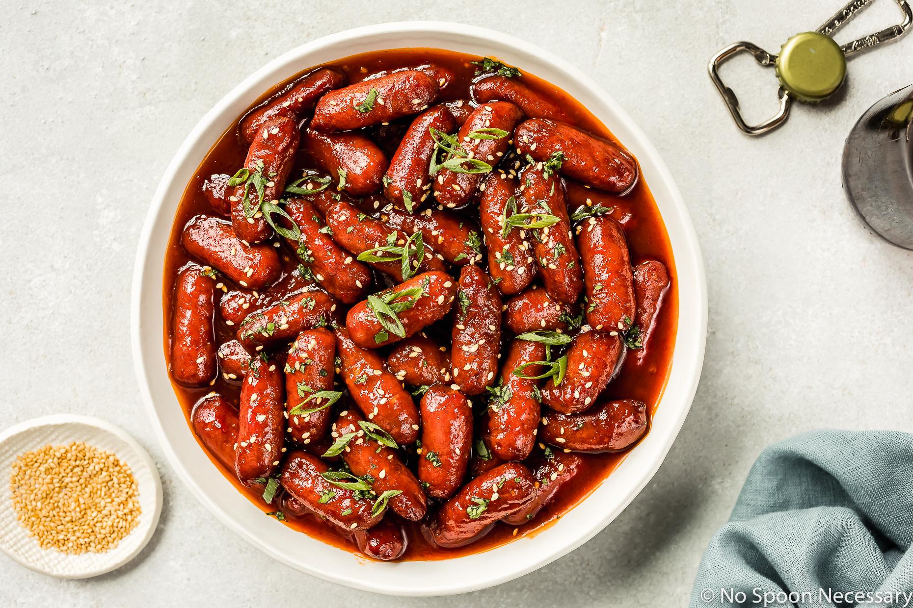 Slow Cooker Honey Sriracha Little Smokies