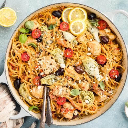 Mediterranean Pasta Recipe with Chicken