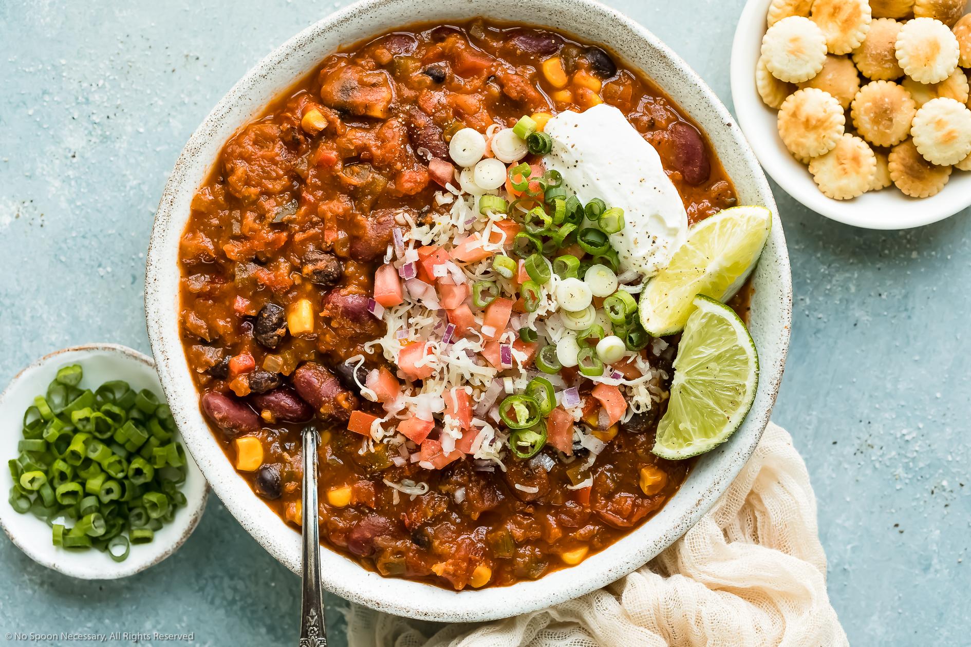 Vegetarian 3 Bean Chili Recipe