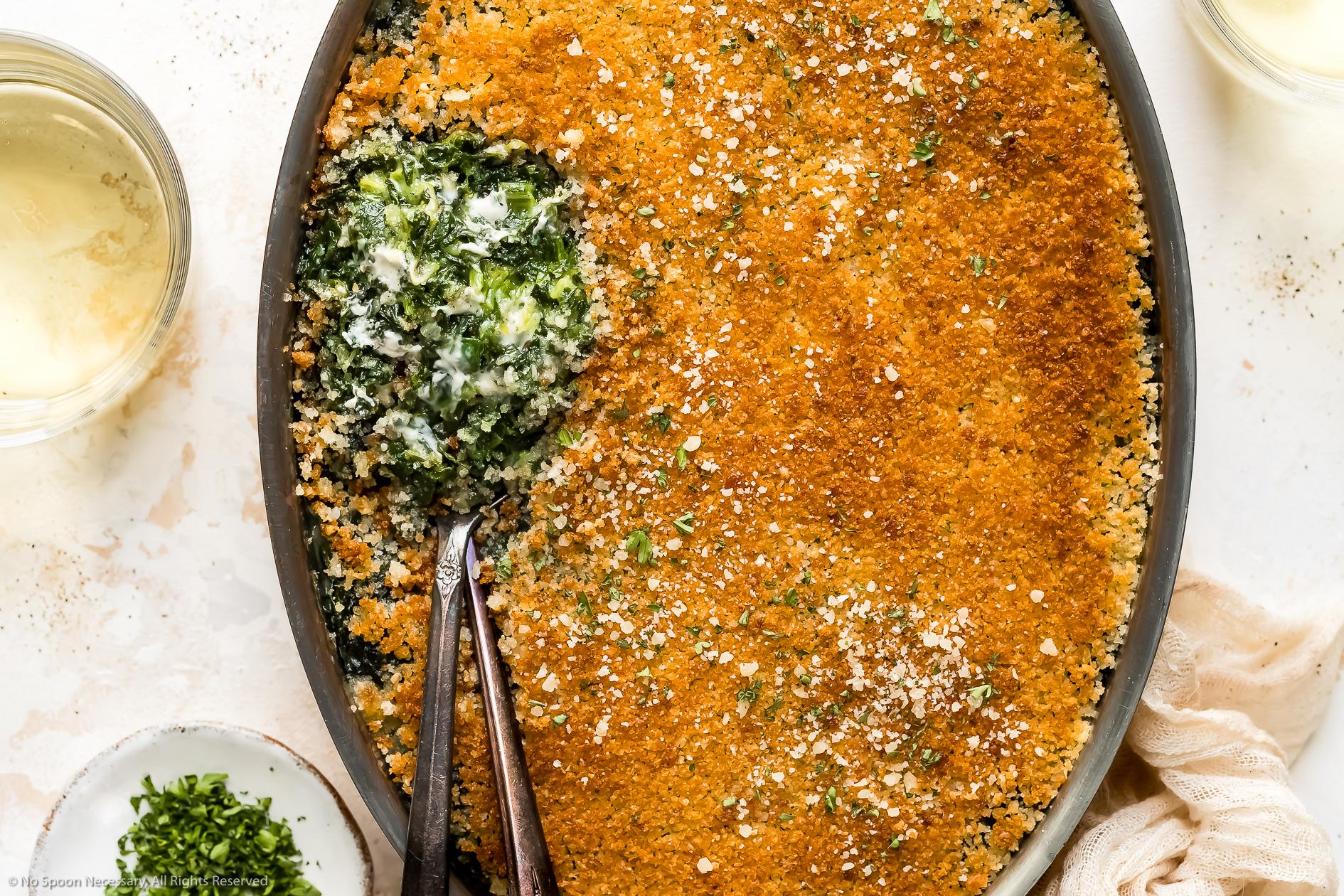 Easy Creamed Spinach Casserole Recipe