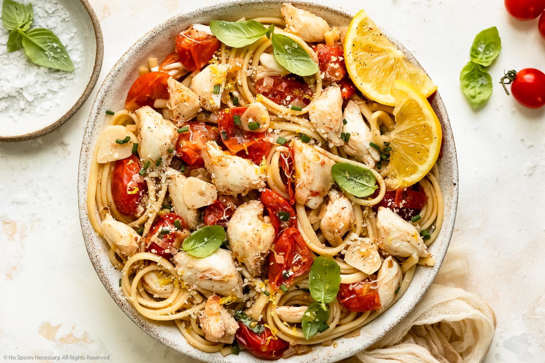 Crab Pasta (Easy Crab Linguine)